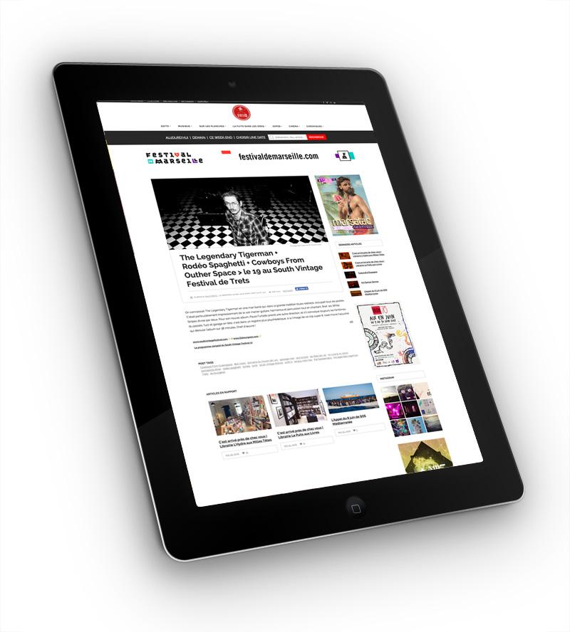 Site internet Ventilo – mise en page d'un article