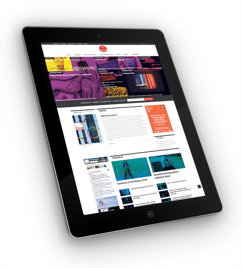 Site internet Ventilo – page d'accueil