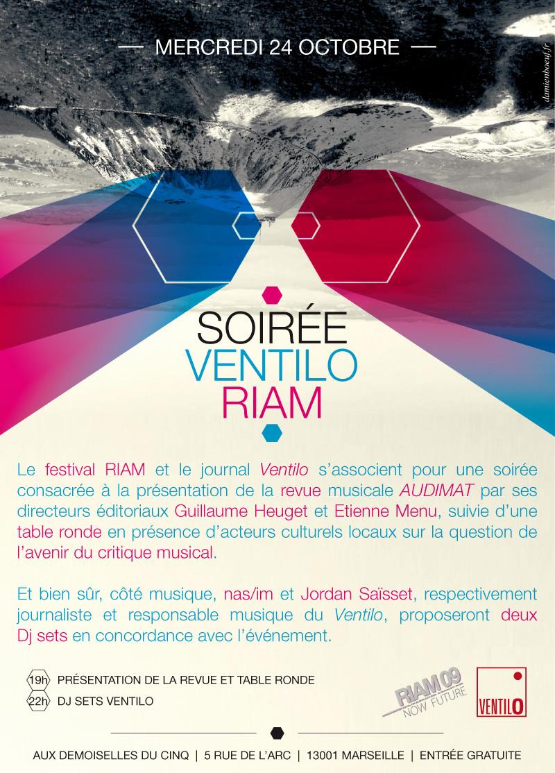 Affiche de la soirée RIAM – Ventilo